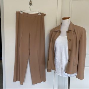 JG Hook camel colored pants suit in 14P